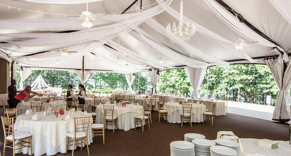 Wedding Reception Setup in Tent